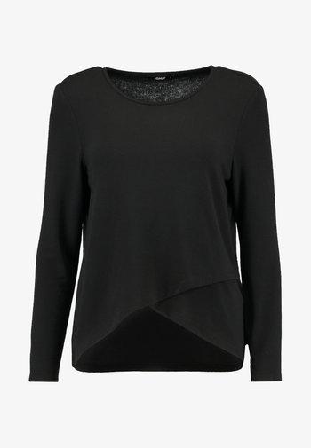 ONLSONJA MIDA WRAP - Long sleeved top - black