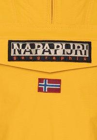 Napapijri - RAINFOREST SUMMER - Waterproof jacket - mango yellow - 2