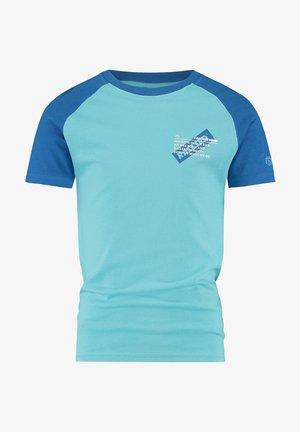 Print T-shirt - pastel blu