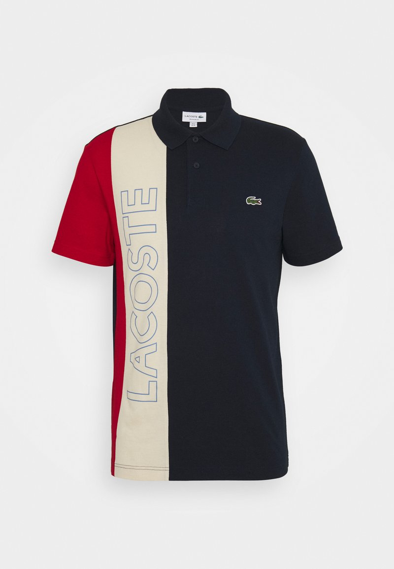 Lacoste - Polo shirt - marine/naturel clair/rouge