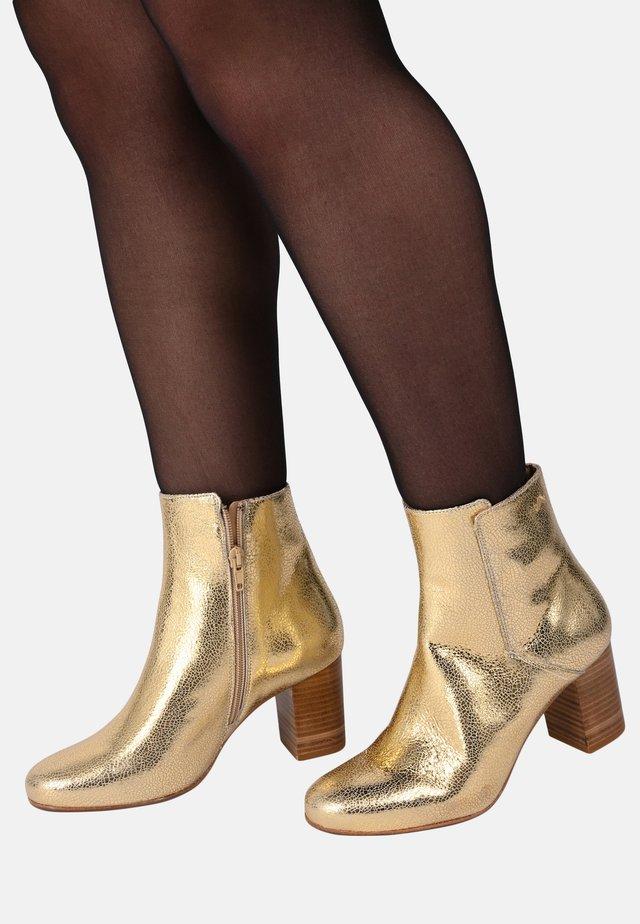 MATHILDE - HIGH HEELED ANKLE BOOTS - Korte laarzen - gold