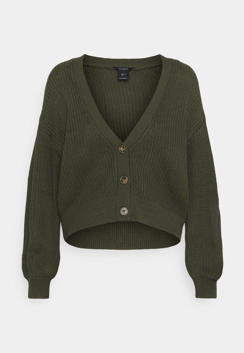 Lindex - CARDIGAN BRIDGET - Cardigan - dark green