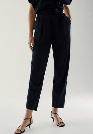 SCHWARZE CUPRO - Spodnie materiałowe - black