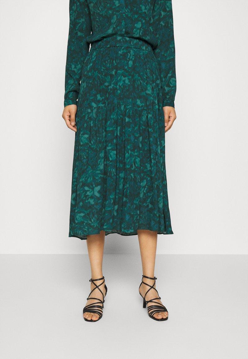 mbyM - BILJANA - A-snit nederdel/ A-formede nederdele - dark green