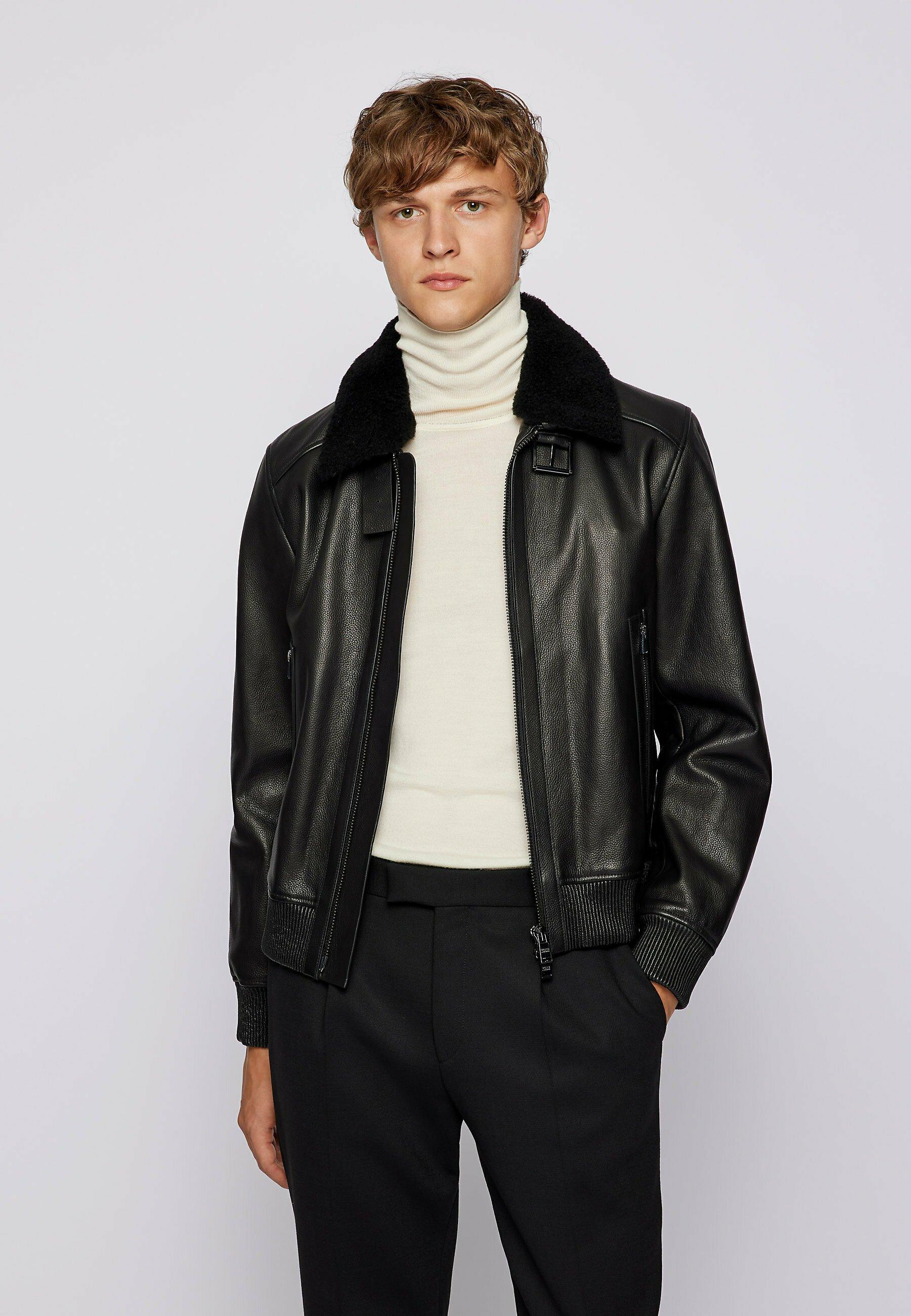 Men T-MEFON - Leather jacket