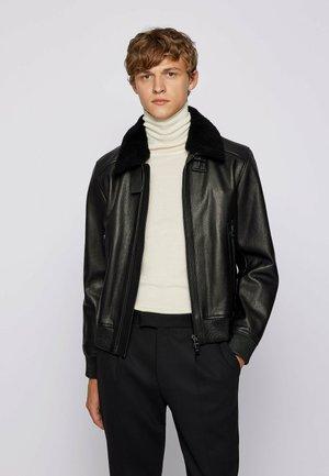 T-MEFON - Leather jacket - black
