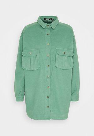 OVERSIZED DRESS - Shirt dress - sage