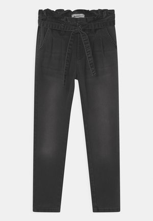 GIRLS HIGH-WAIST PAPERBAG  - Slim fit jeans - black