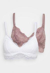 2 PACK - Triangle bra - pink/white