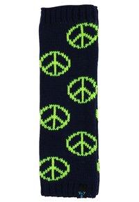 MyMo Accessories - Leg warmers - peace - blau/neongelb - 1
