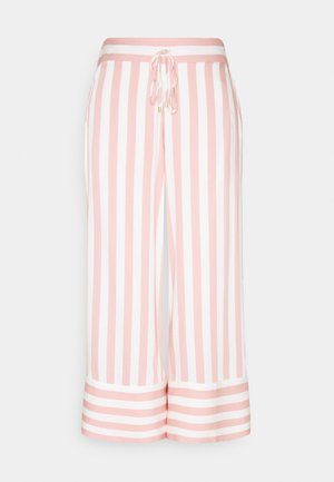 BOLD - Trousers - pink/white