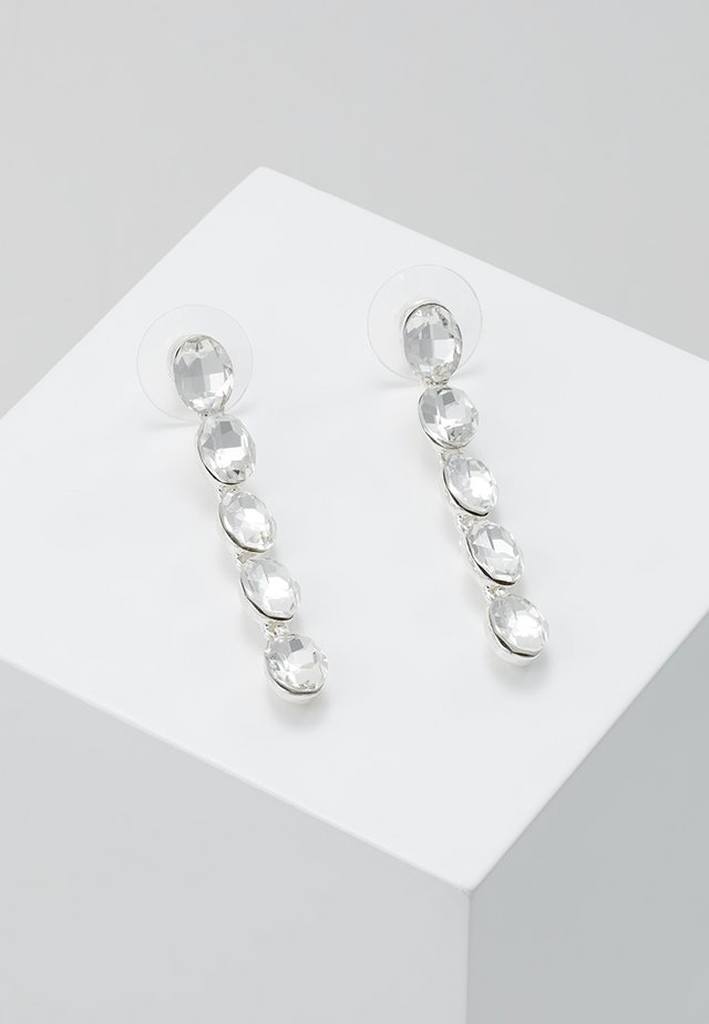 NOVALIE OVAL LONG EAR  - Orecchini - silver-coloured/clear