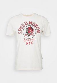 Schott - Print T-shirt - off-white - 4