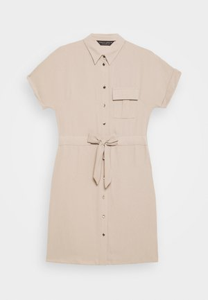 UTILITY DRAWCORD STONE SHIRT DRESS - Skjortekjole - beige