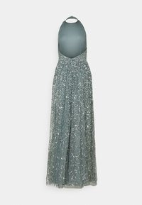 Maya Deluxe - ALL OVER SEQUIN RACER MAXI DRESS - Vestido de fiesta - teal haze
