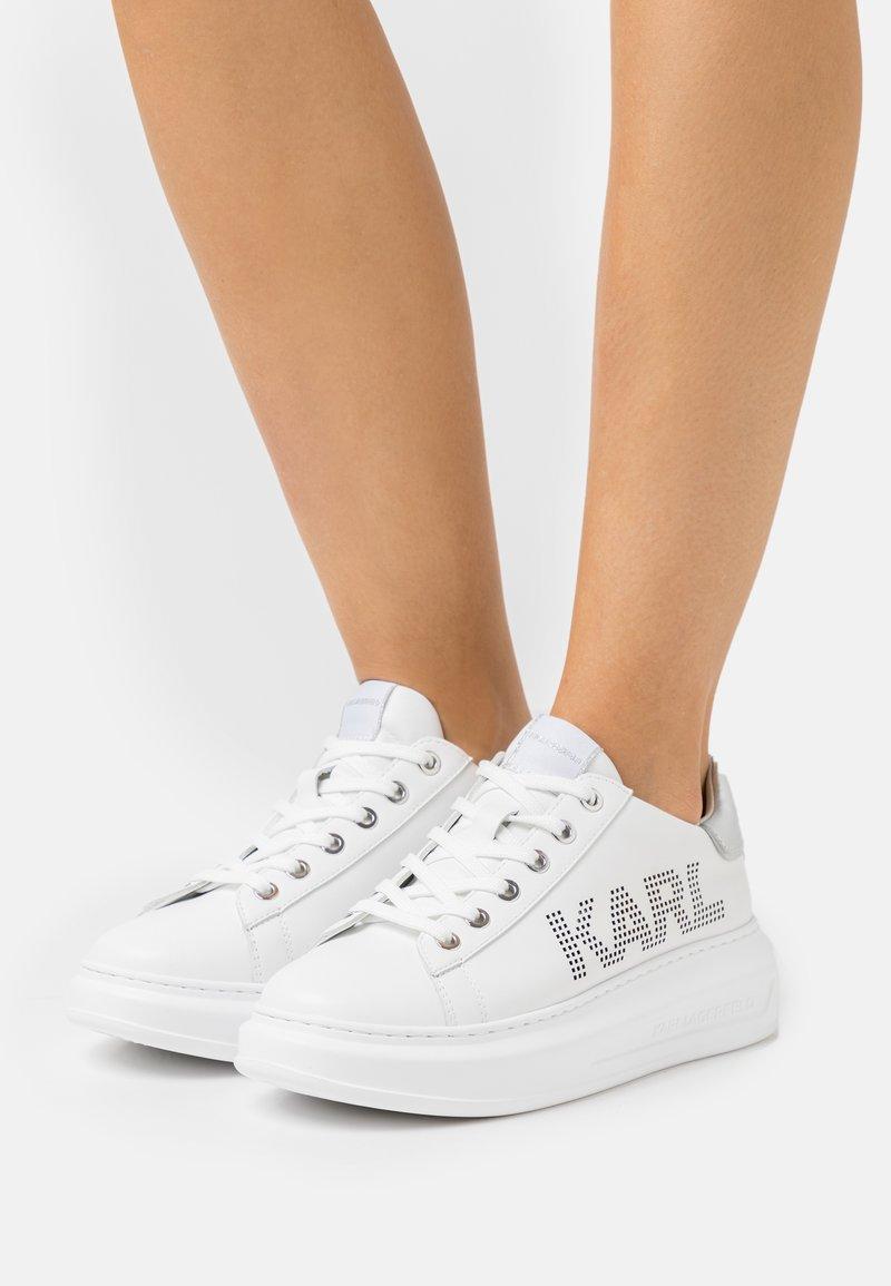 KARL LAGERFELD - KAPRI PUNKT LOGO  - Tenisky - white/silver