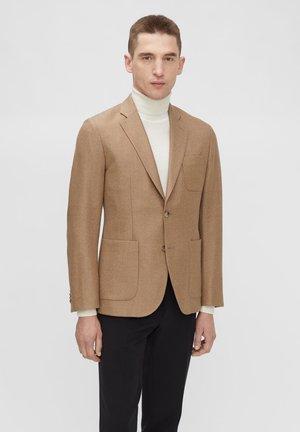 HOPPER MOULINE TWILL - Blazer jacket - sand/beige