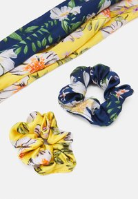 Pieces - PCANLOIS BOW SCRUNCHIE 2 PACK - Hair Styling Accessory - buttercup/blue - 2