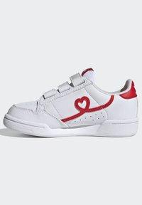 adidas Originals - CONTINENTAL 80 SHOES - Baskets basses - footwear white/vivid red - 5
