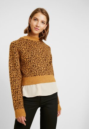 MICRO ANIMAL CROP - Jumper - brown
