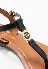 TOM TAILOR - T-bar sandals - black - 2
