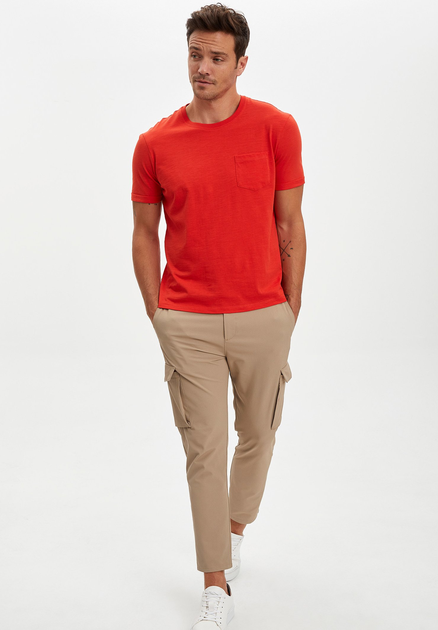 DeFacto Basic T-shirt - red laQbS