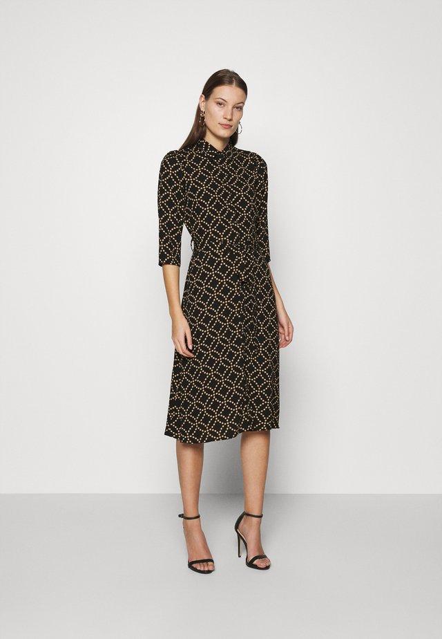MIDI SHIRT DRESS - Shirt dress - black