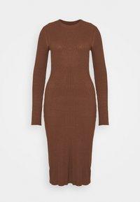 Shift dress - dark brown