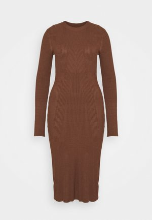 Strickkleid - Shift dress - dark brown