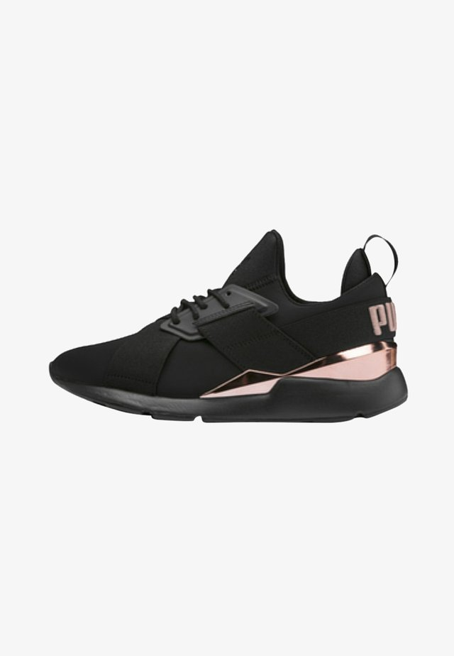 MUSE METAL - Sneakers laag - black/rose gold