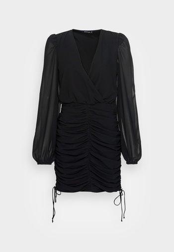 ISA DRAWSTRING DRESS - Cocktail dress / Party dress - black