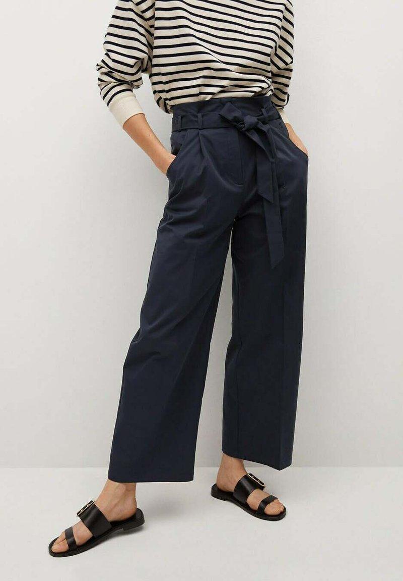 Mango - Pantalon classique - azul marino oscuro