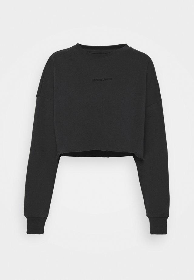 OVERSIZED CROP - Sweater - washed black