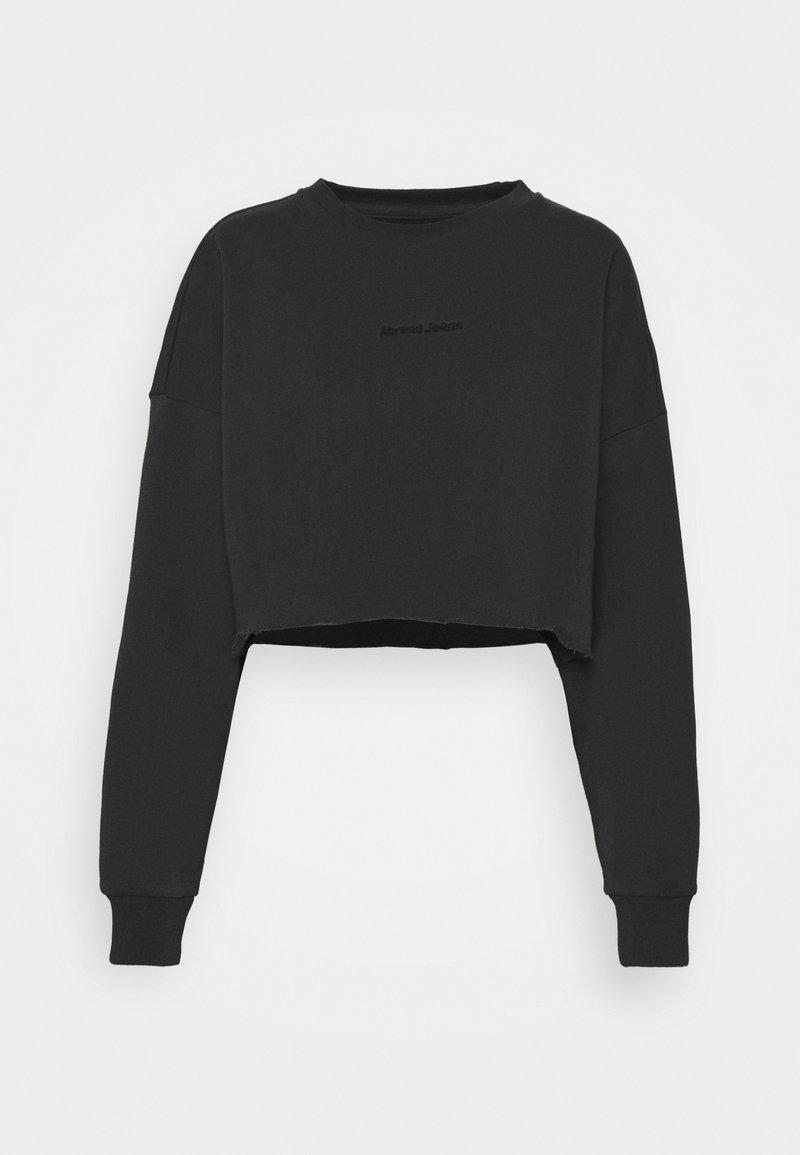 Abrand Jeans - OVERSIZED CROP - Sweatshirt - washed black