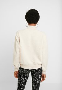 Topshop - CURLY ZIP UP FUNNEL - Stickad tröja - stone - 2
