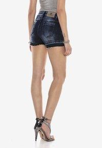 Cipo & Baxx - Denim shorts - darkblue - 2
