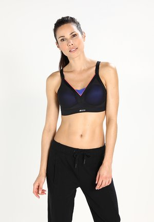 ACTIVE SHAPED SUPPORT - High support sports bra - black/pink