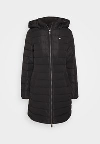 Tommy Jeans - QUILTED COAT - Dunkåpe / -frakk - black - 5