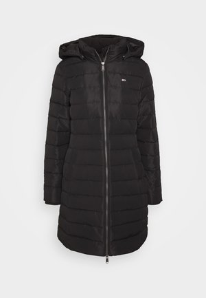 QUILTED COAT - Down coat - black