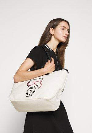 IKONIK OUTLINE - Shopping bag - natural/black
