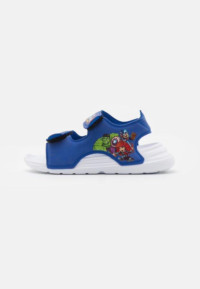 SWIM UNISEX - Chanclas de baño - team royal blue/footwear white/vivid red