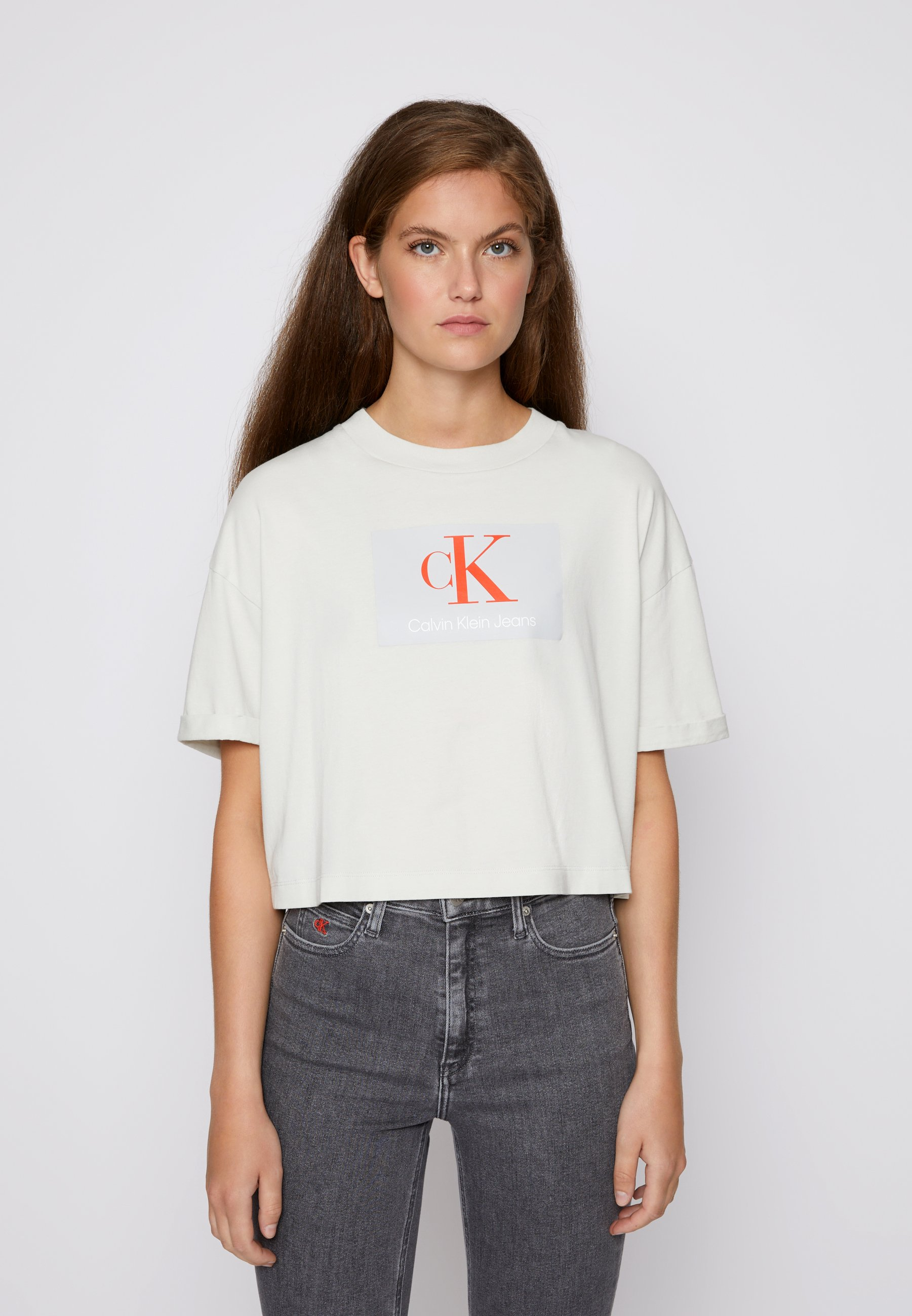 Donna BOXY ROLL UP SLEEVE TEE - T-shirt con stampa