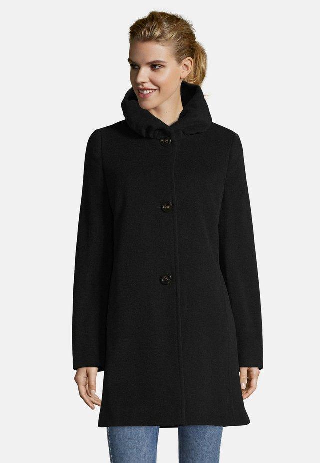 MIT STEHKRAGEN - Short coat - schwarz