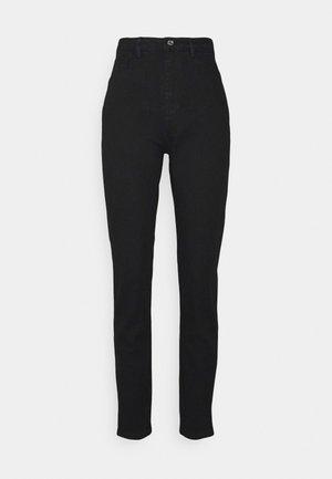 COMFORT STRETCH SPLIT - Straight leg jeans - black
