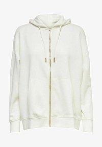 ONLY - OVERSIZE - Zip-up sweatshirt - cloud dancer - 0