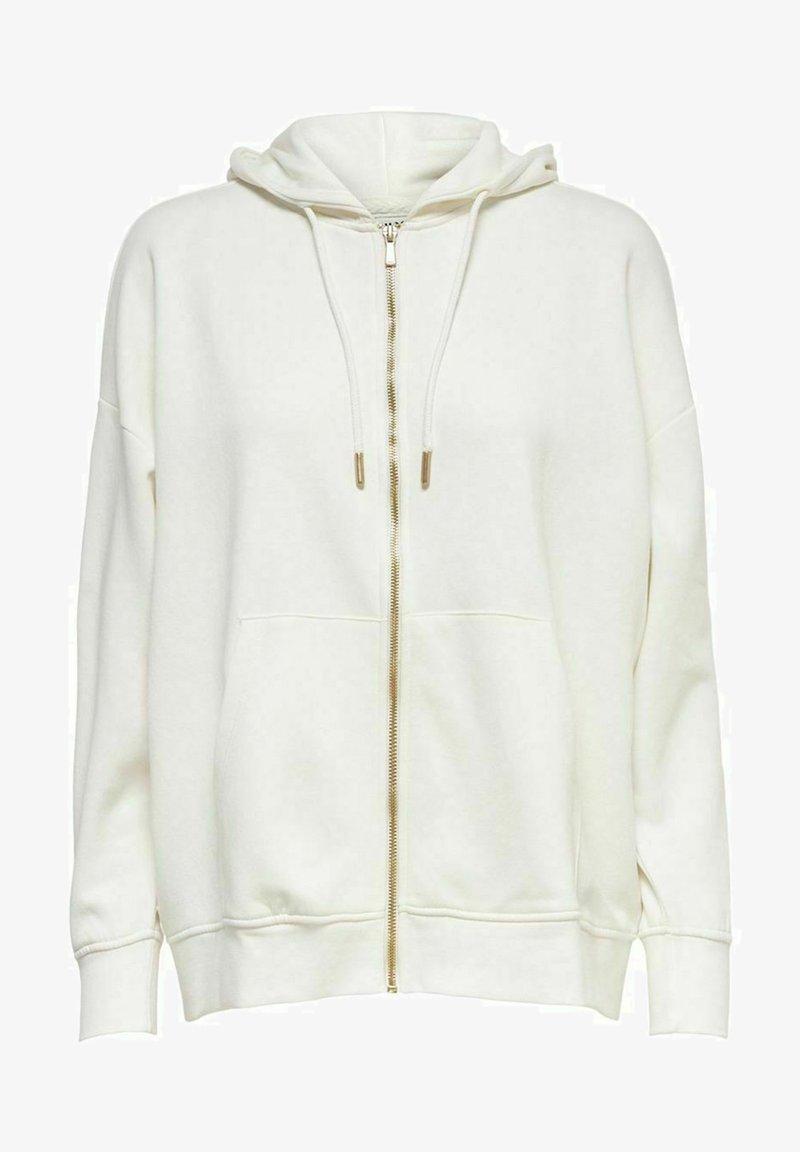 ONLY - OVERSIZE - Zip-up sweatshirt - cloud dancer