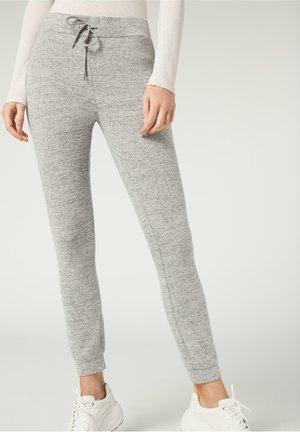 KOMFORT - Leggings - Trousers - light grey melange