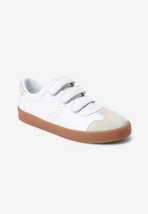 Sko med burretape - white