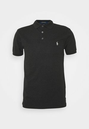 SLIM FIT MODEL - Polo shirt - black marl heather