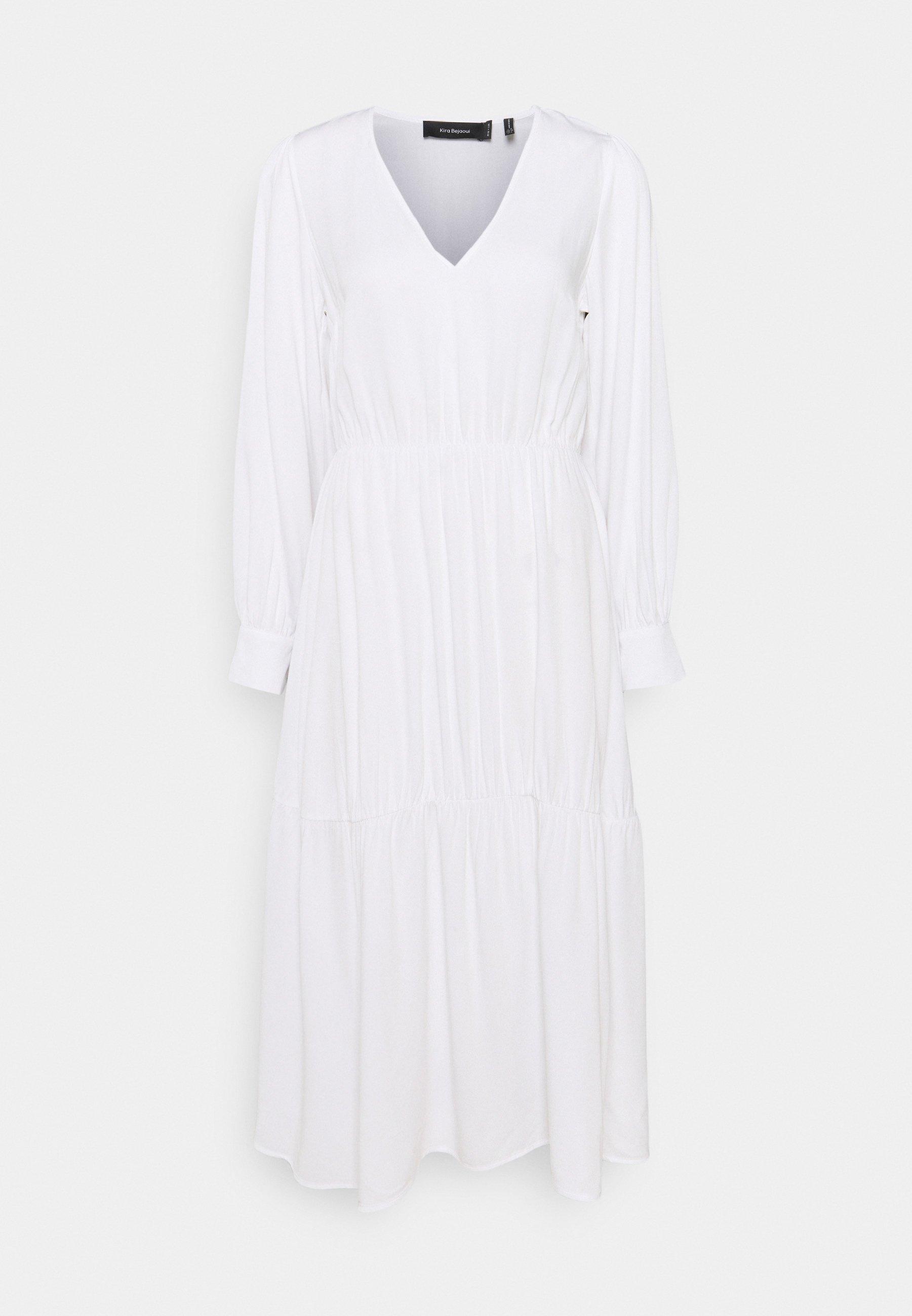 Women KIRA X NU - IN V NECK FLOWY MIDI DRESS - Day dress